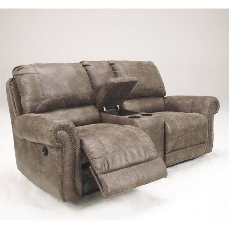 Ashley Furniture Oberson Double Reclining Loveseat in Gunsmoke & Ashley Furniture Oberson Double Reclining Loveseat in Gunsmoke ... islam-shia.org