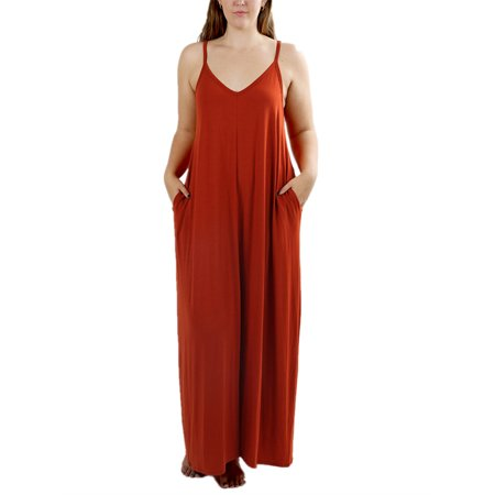 SySea - Spaghetti Strap Solid Women Long Dress Plus Size Dresses -  Walmart.com