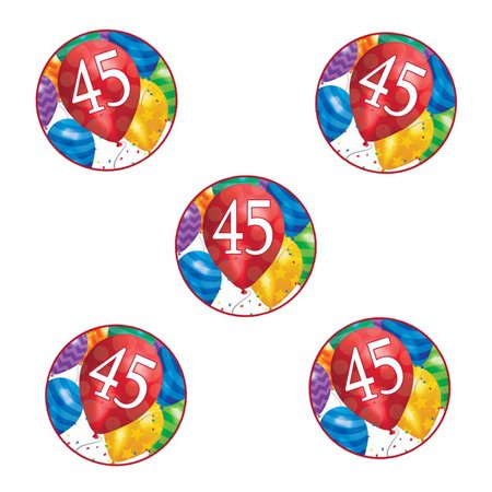 Partypro TQP 5876 45Th Birthday Balloon Blast Sticker