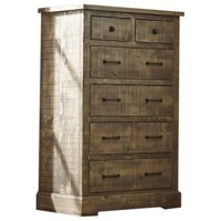 Progressive Meadow 6 Drawer Chest in Weathered Gray