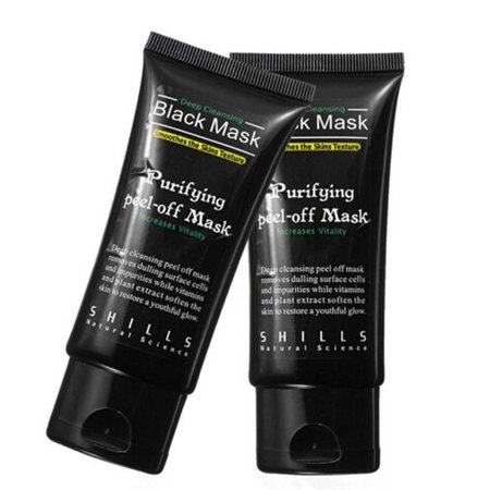 Black Mud Deep Cleansing Purifying Peel Off Facail Face Mask - Black Blank Mask