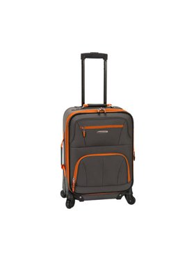 """Rockland Luggage Pasadena 19"""" Softside Expandable Spinner Carry On F2281"""
