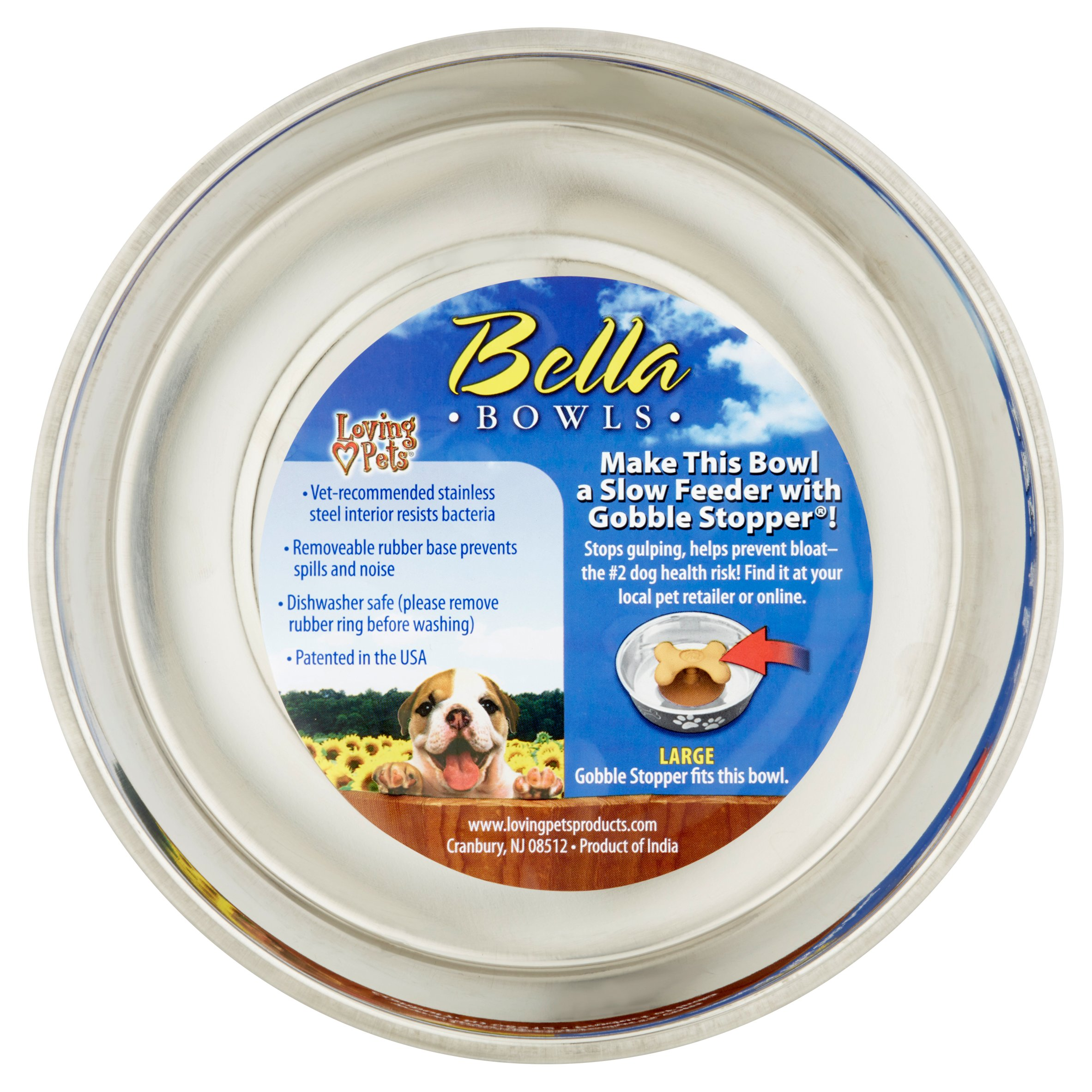 Loving Pets Bella Bowls Large Murano Blue Bowl