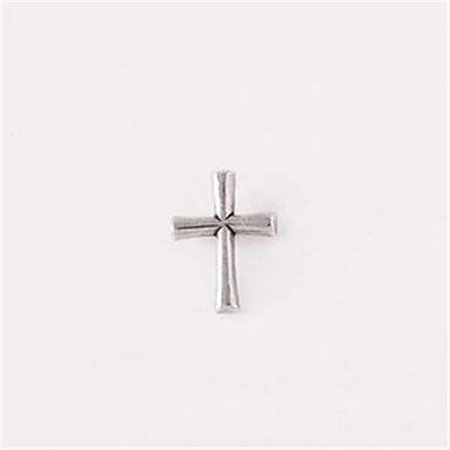 Lapel Pin-Round Flared - Pewter Flared Cross