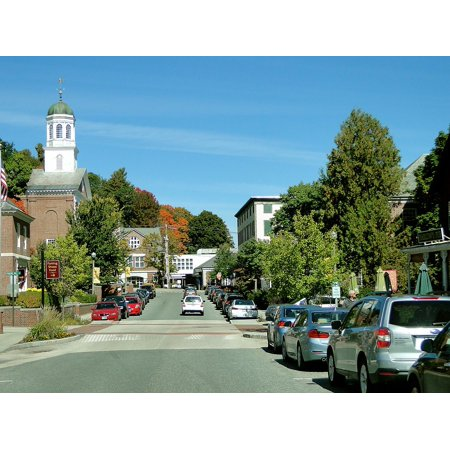 LAMINATED POSTER New Hampshire Town Street Main Street Quaint Poster Print 24 x 36](Halloween Town New Hampshire)