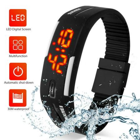 LED Watch, EEEKit Fashion Sports Digital Watches Rubber Bands 30M Waterproof Watches Bracelet for Boys Girls Men Women Teens ()