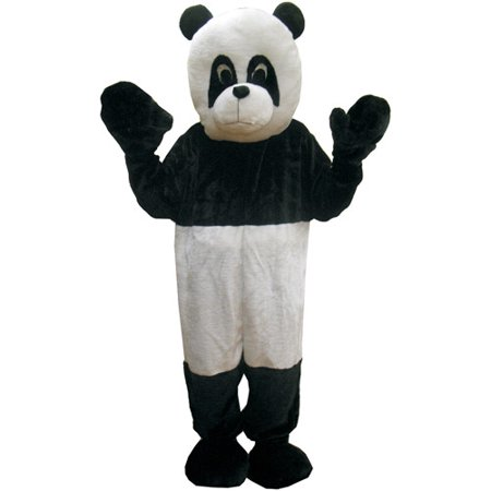 Panda Mascot Adult Halloween Costume, Size: Men's - One Size - Panda Mascot Suit