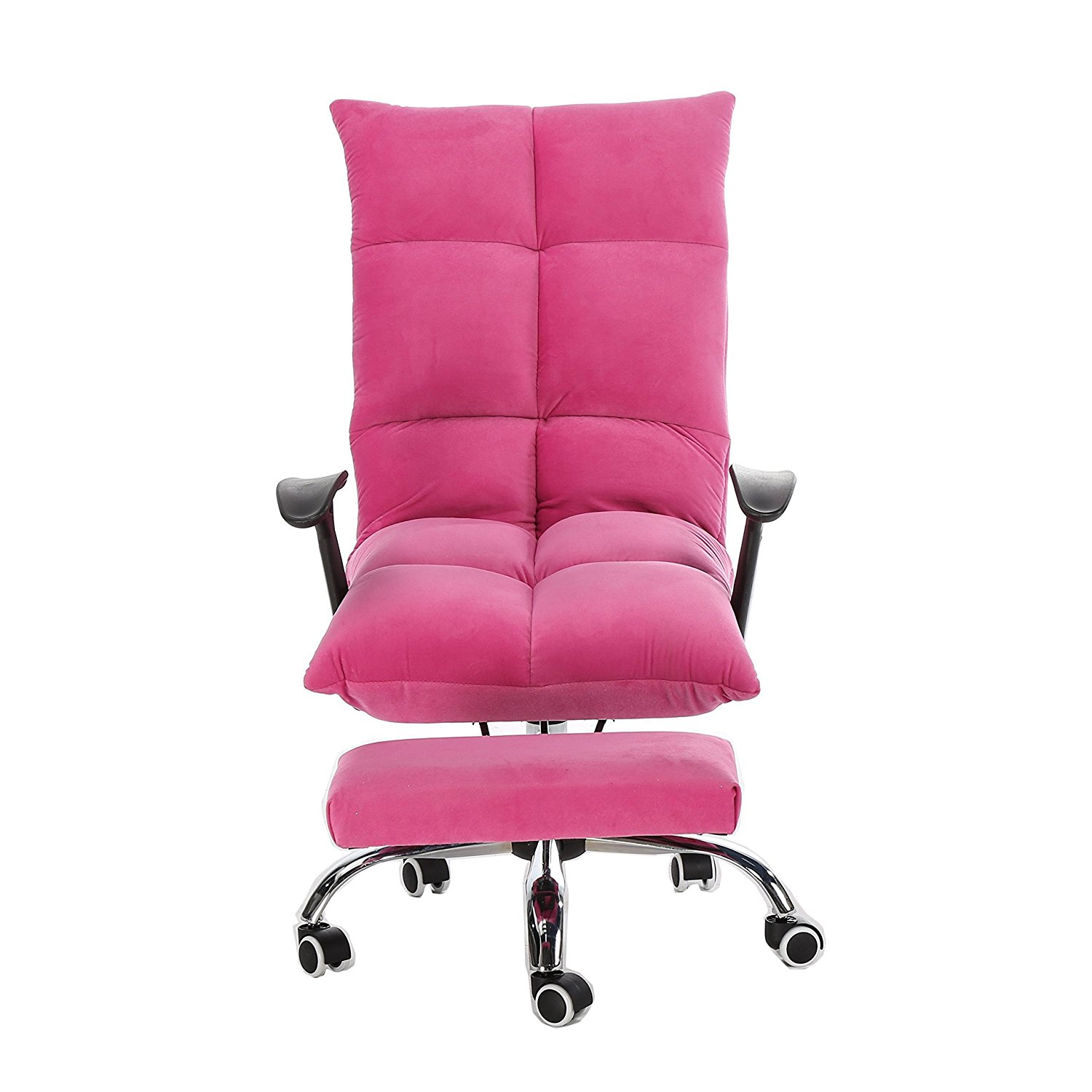 Magshion Fashion 5 Position Mul Functional Tatami Home Office Computer Desk  Chair With Adjustable Headrest Footrest Lay Flat Pink   Walmart.com