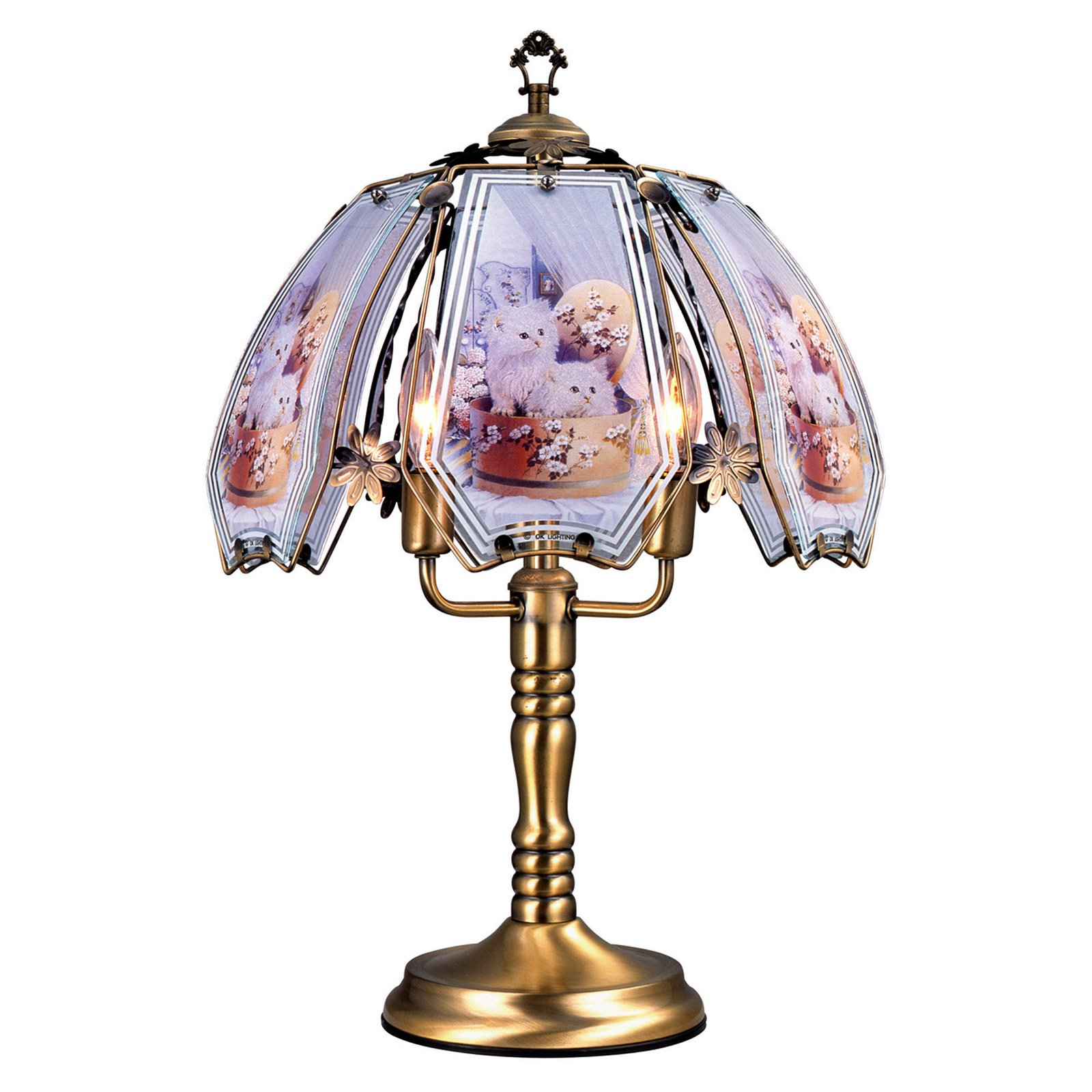"""ORE International 23.5"""" Cats Touch Lamp"""