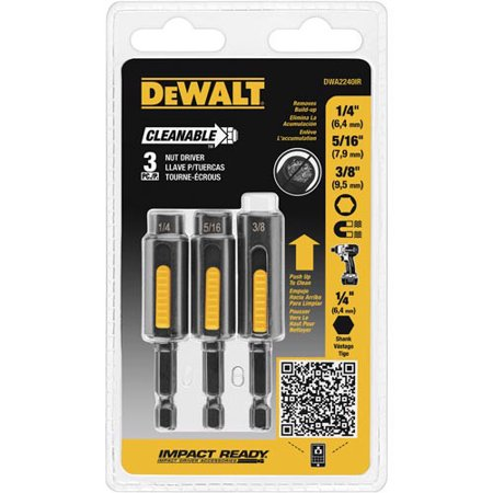 Dewalt DWA2240IR 3-Piece Cleanable Nutsetter Set ()