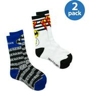Justice League, Boys Socks, 2 Pack Crew Socks (Little Boys & Big Boys)