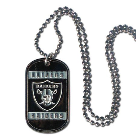 Oakland Raiders Official NFL Tag Necklace by Siskiyou - Raiders Necklace