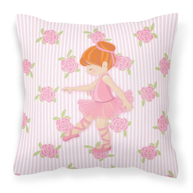 Carolines Treasures BB5170PW1818 Ballerina Red Head Point Fabric Decorative Pillow - 18 x 3 x 18 in. - image 1 of 1