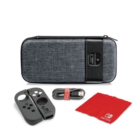 PDP Nintendo Switch Starter Kit with Travel Case, Power Cable & Cleaning Cloth, 500-115