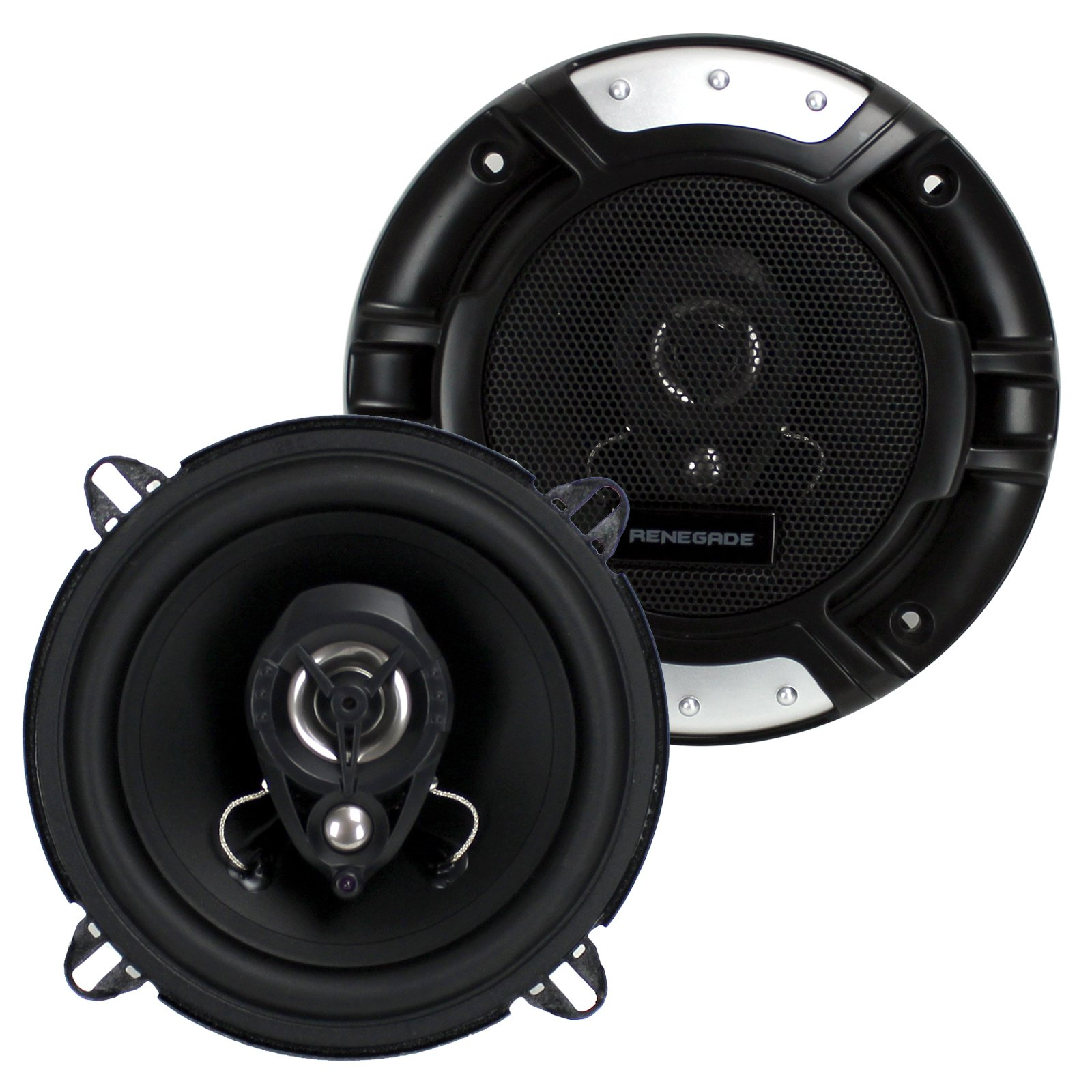 "2) New Renegade RX52 5.25"" 160 Watt 2-Way Car Audio Coaxial Speakers Stereo"