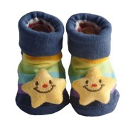 Cute Infant Baby Booties, Cotton 3D Sock Slippers, 0-6 Months