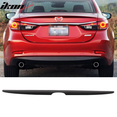 Fits 14-19 Mazda 6 Sedan OE Factory Flush Mount Trunk Spoiler Wing - Matte Black (Mazda 6 Sports Sedan)
