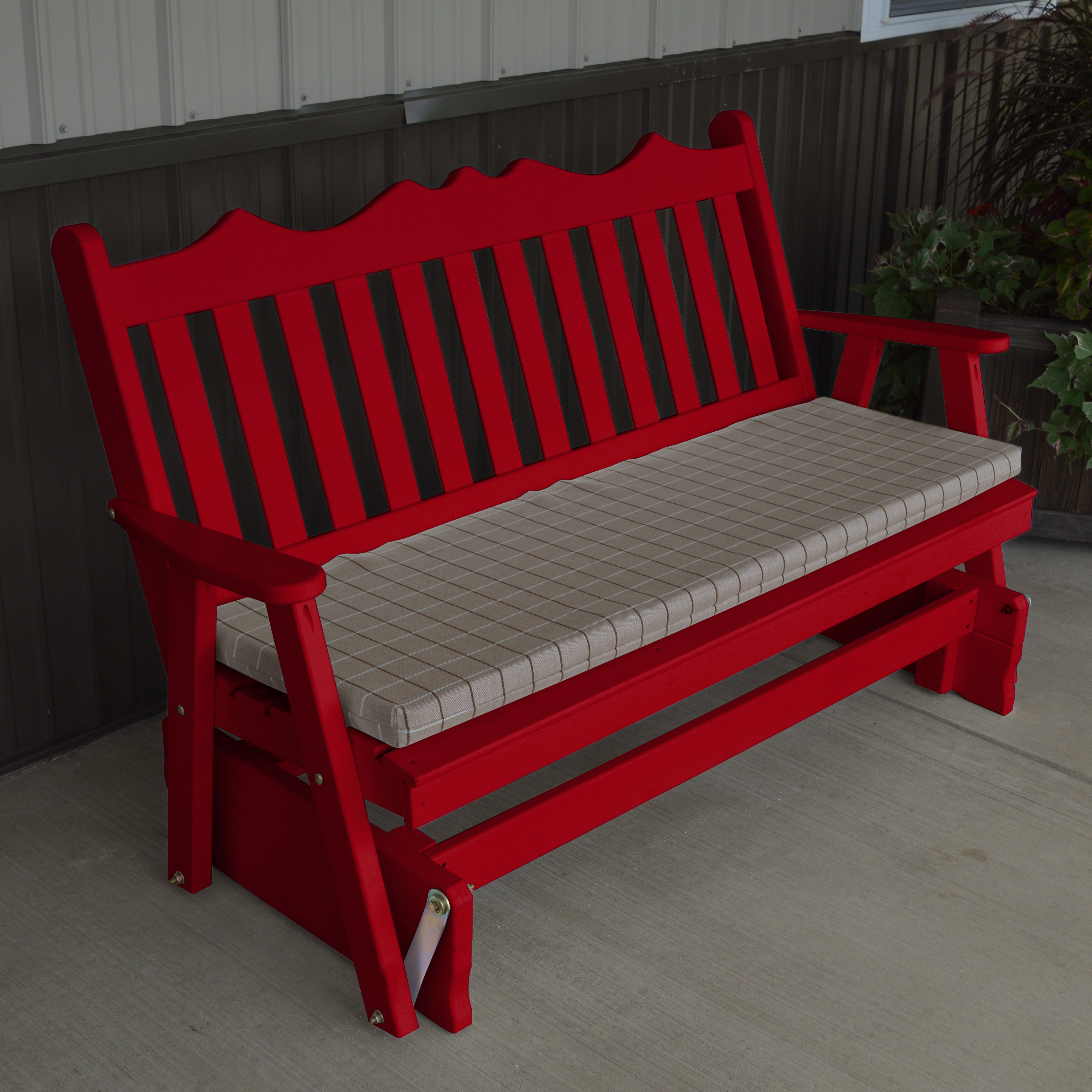 A U0026amp; L Furniture Yellow Pine Royal English Deluxe Outdoor Bench Glider    Walmart.com