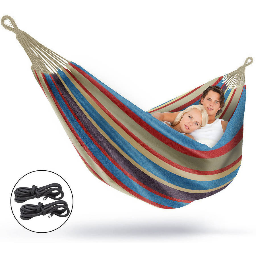 sorbus brazilian double hammock extralong two person portable hammock bed for indoor or