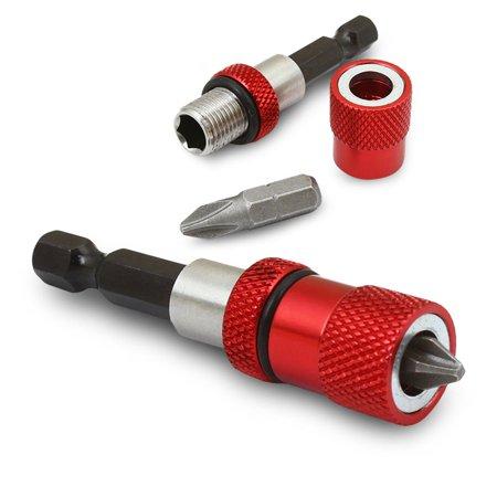 1/4'' Adjustable Screwdriver Drywall Driver Depth Screw Magnetic Tip Bit Holder Tool