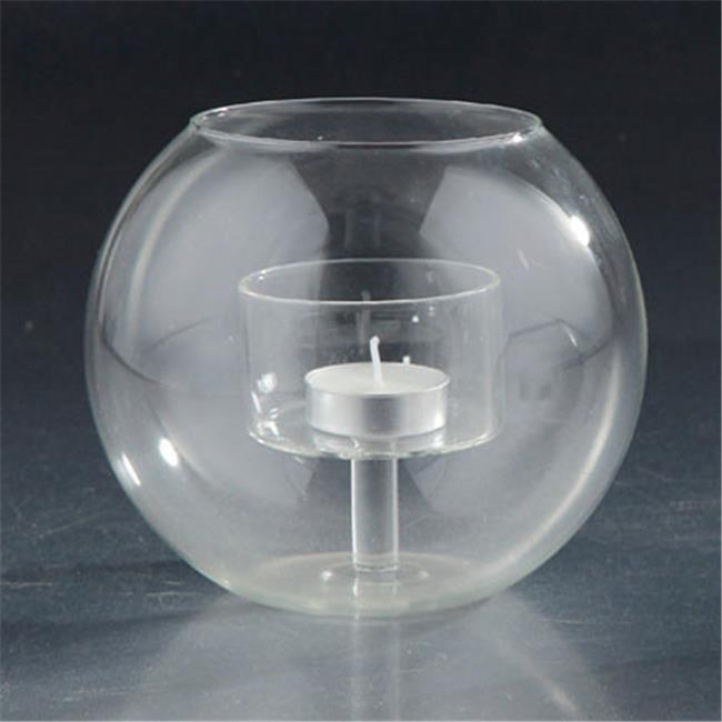 Diamond Star 77002 5.5 x 6 in. Glass Candle Holder, Clear