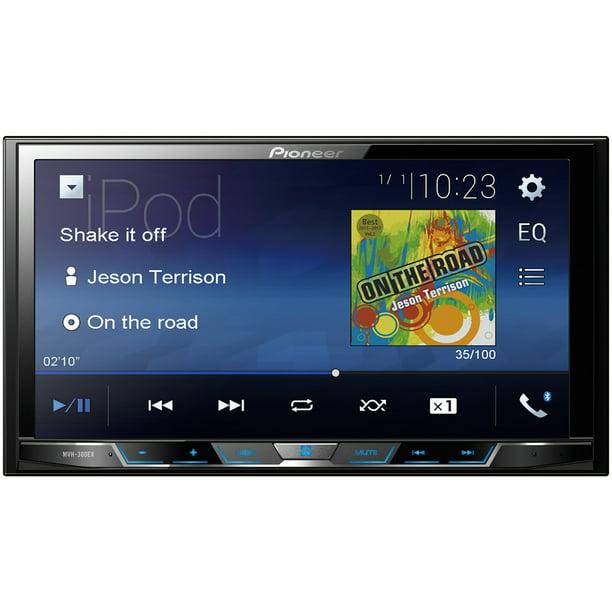 Pioneer Mvh 300ex 7 Double Din In Dash Car Stereo Digital Media A V Receiver With Bluetooth Walmart Com Walmart Com