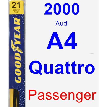 2001 Audi A4 Wiper - 2000 Audi A4 Quattro Passenger Wiper Blade - Premium