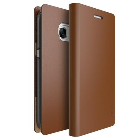 quality design 9e76f f235e Galaxy S7 Edge Case Ringke [SIGNATURE][Brown] Premium Genuine Leather Flip  Wallet Case