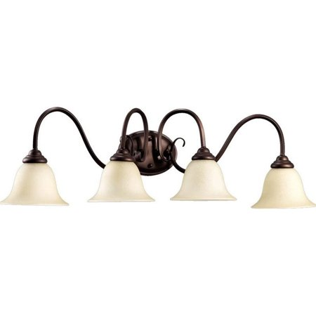 Quorum Vanity Lighting - Quorum Spencer 4 Light Vanity in Oiled Bronze