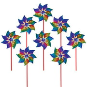 In The Breeze ITB2868 Rainbow Whirl Pinwheel - 8PC
