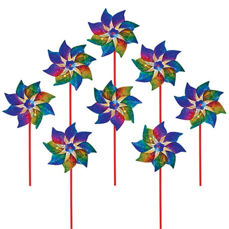 In The Breeze ITB2868 Rainbow Whirl Pinwheel - 8PC](Rainbow Pinwheel)