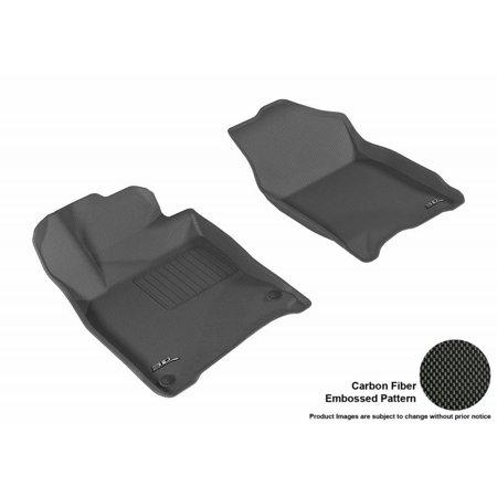 3D MAXpider 2016-2018 Honda Civic Kagu 1st Row Black Carbon Fiber Embossed Pattern Floor Mat L1HD07411509