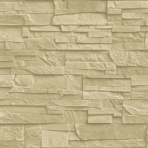 Washington Wallcoverings Factory II 33' x 20.5'' Brick, Wood and Stone 3D Embossed Roll Wallpaper