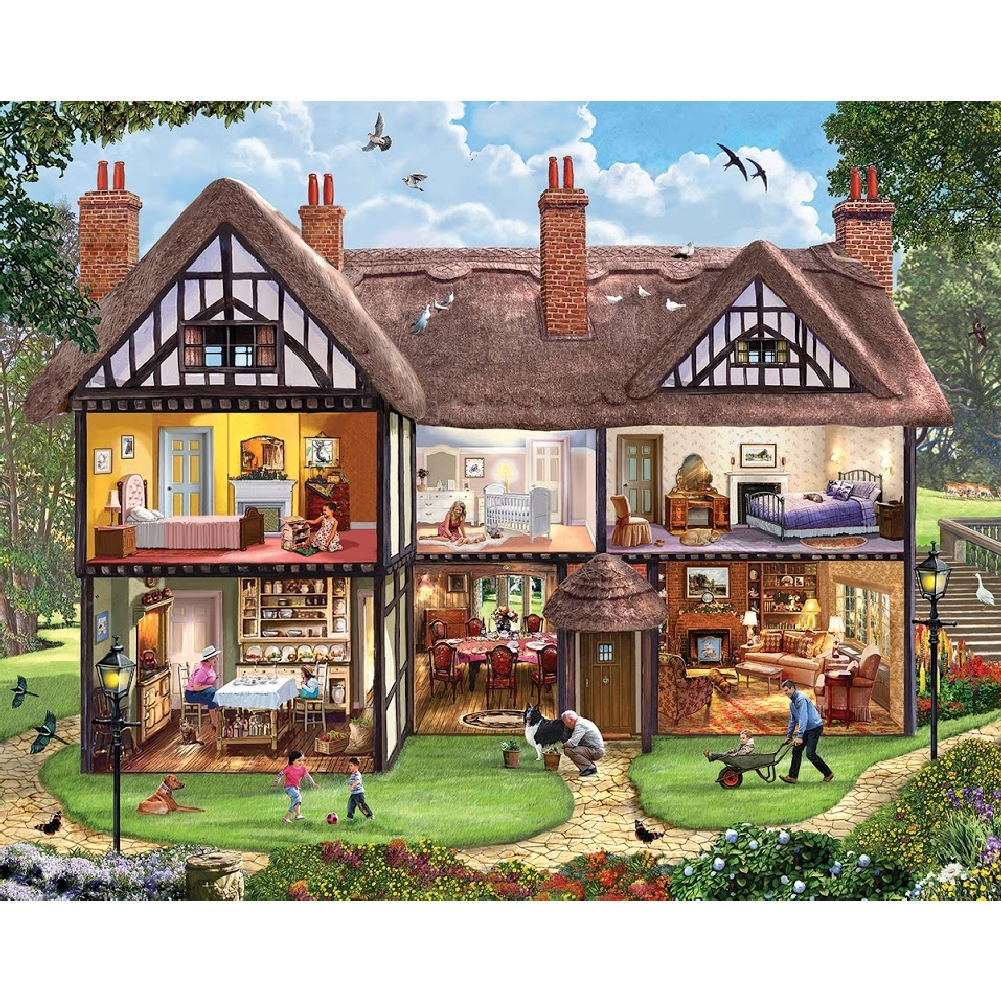 Summer House 1,000 Piece Puzzle,  More Folk Art by White Mountain Puzzles