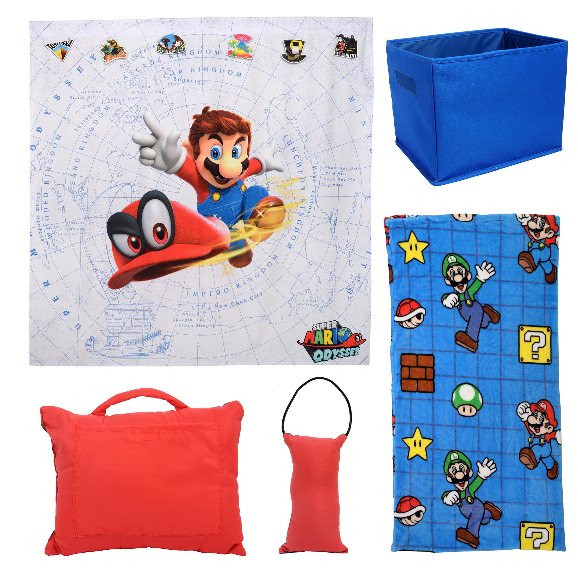 Super mario brothers Mario quilt  Blankets zip warm hand cushion fold warm gift