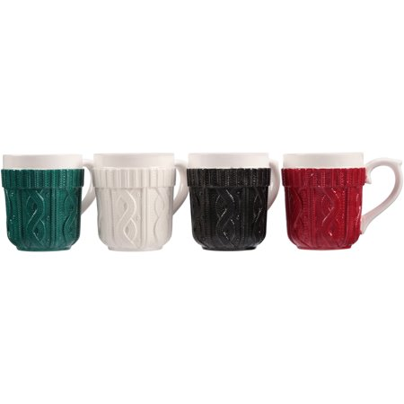 Mainstays Earthenware Sweater Mug 4-Pack Only $4.98