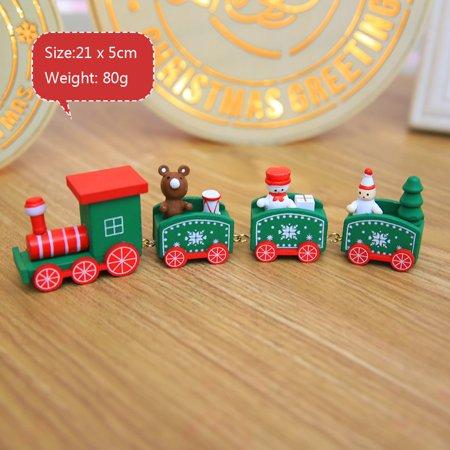 Christmas Decorations Christmas Woods Small Train Children Kindergarten Festive ()