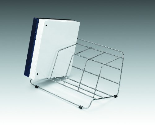 Fellowes Catalog Rack, 4 Compartment, Wire, Silver (10402) by Fellowes