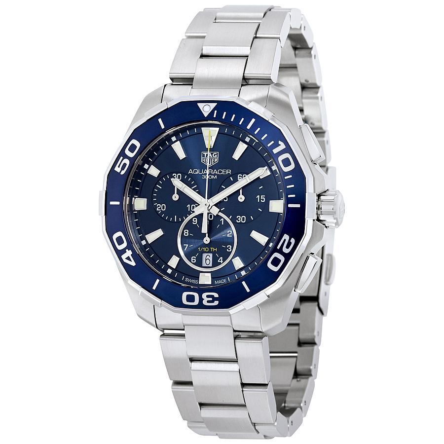 Tag Heuer Aquaracer Chronograph Blue Dial Mens Watch CAY111B.BA0927 by Tag Heuer