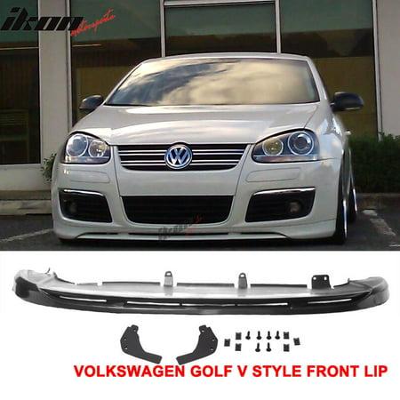 Front Spoiler Volkswagen Golf (Fits 05-10 VW Golf MK5 GTI Jetta V-Style Front Bumper Lip Spoiler Urethane )