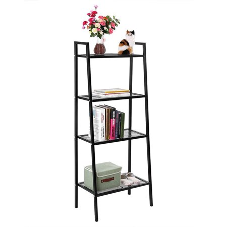 Yosoo Black 4 Tier Ladder Shelf Unit Bookshelf Bookcase Book Storage Display Rack Stand35