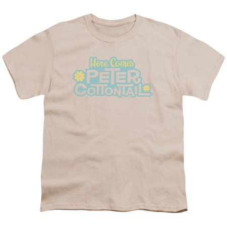 Here Comes Peter Cottontail - Logo - Youth Short Sleeve Shirt - Medium