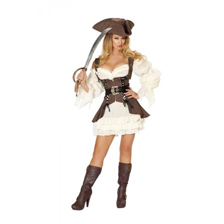 4 piece Naughty Ship Wench - Naughty Santa Costumes
