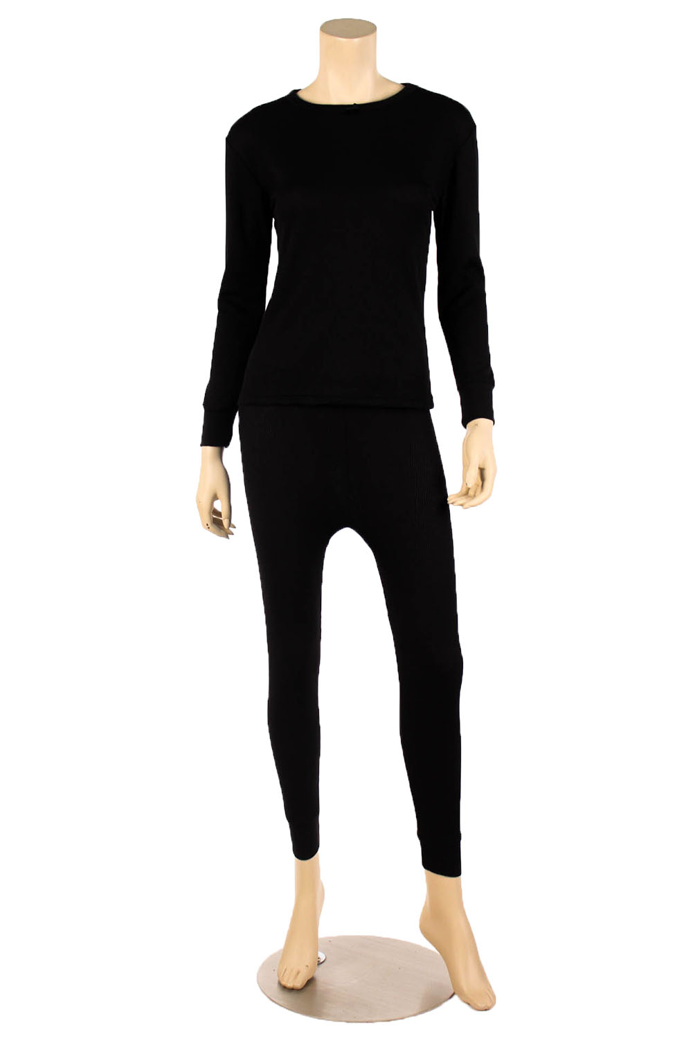WuHou Women's 100% Cotton Thermal Underwear Two Piece Long Johns Set by