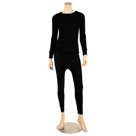 WuHou Women's 100% Cotton Thermal Underwear Two Piece Long Johns ...
