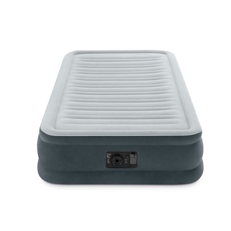 Intex PVC Dura-Beam Series Mid Rise Airbed with Built In Electric Pump, Twin - image 2 of 6
