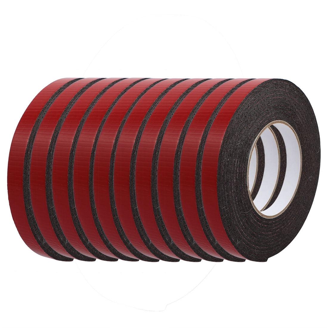 10pcs 5M 15mm x 3mm Dual-side Adhesive Shockproof Sponge Foam Tape Red Black