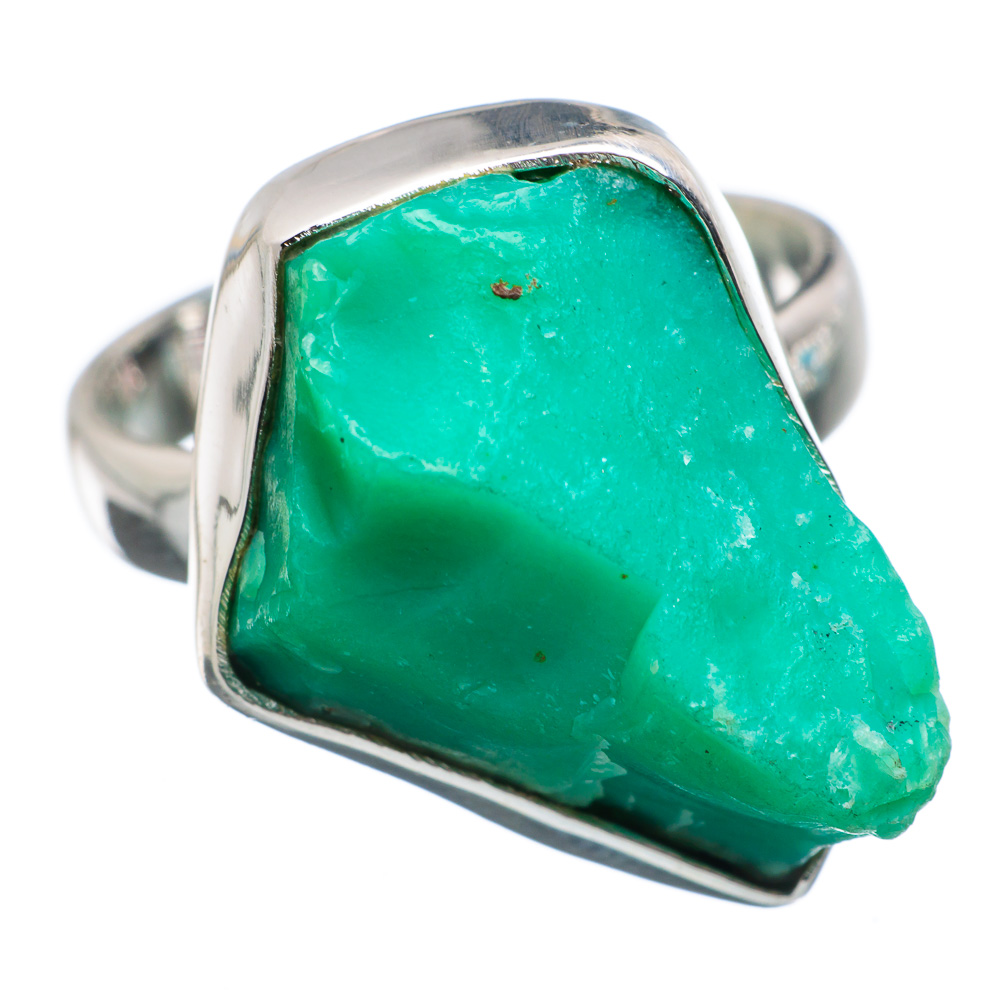 Ana Silver Co Rough Chrysoprase Ring Size 7 (925 Sterling Silver) Handmade Jewelry RING869471 by Ana Silver Co.