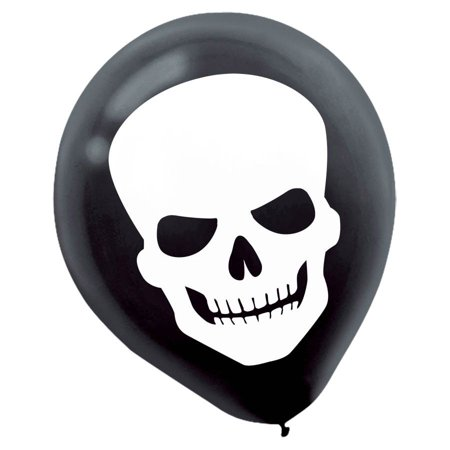 Skeleton Balloons (15 Pack) - Party Supplies (Latex Skeleton)