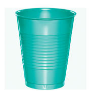 Teal Lagoon Plastic Cups 20 Pack by CREATIVE CONVERTING